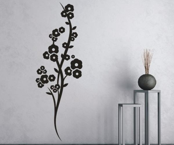 Wandtattoo - Blumenmotiv / Blumenranke - Variante 217