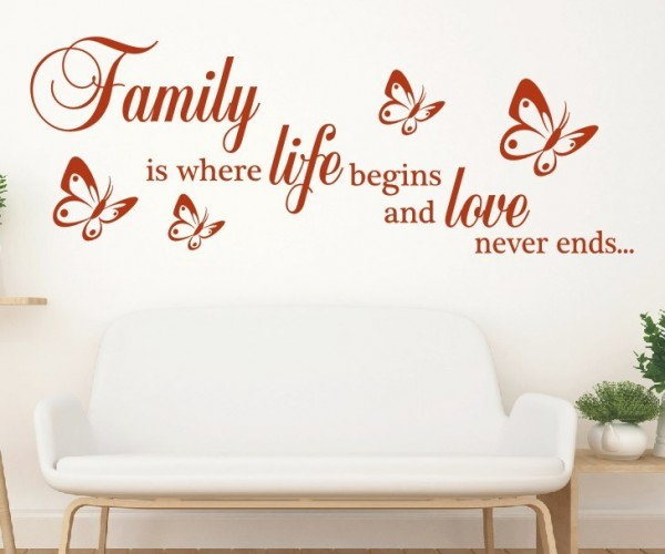 Wandtattoo - Family is where life begins and love never ends... | 7