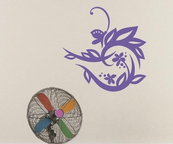 Wandtattoo - Blumenmotiv / Blumenranke | 3