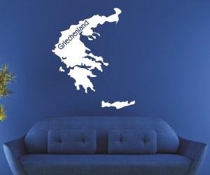 Wandtattoo Silhouetten Karten kaufen- Griechenland - Landkarten - Europa