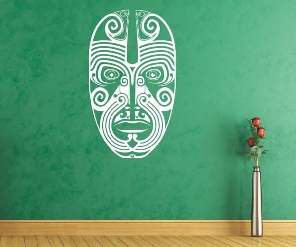 Wandtattoo - Maori - Maskenmotiv - Variante 14