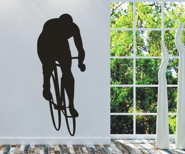Wandtattoo - Radsport - Silhouette / Schattenmotiv - Variante 4