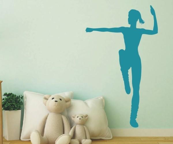 Wandtattoo - Turnen & Gymnastik - Silhouette / Schattenmotiv - Variante 7