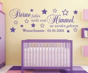 Sprüche Wandtattoos fürs Kinderzimmer kaufen, mit Wunschnamen