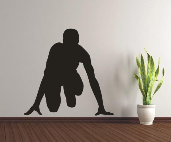 Wandtattoo - Leichtathletik - Silhouette / Schattenmotiv - Variante 1