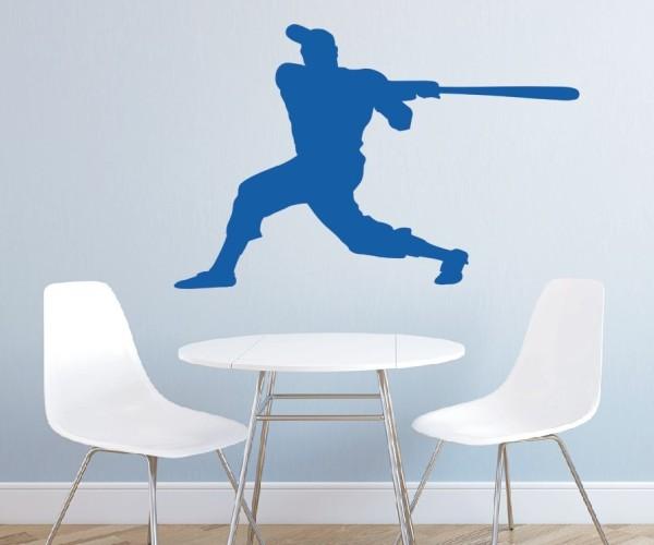 Wandtattoo - Baseball - Silhouette / Schattenmotiv | 3