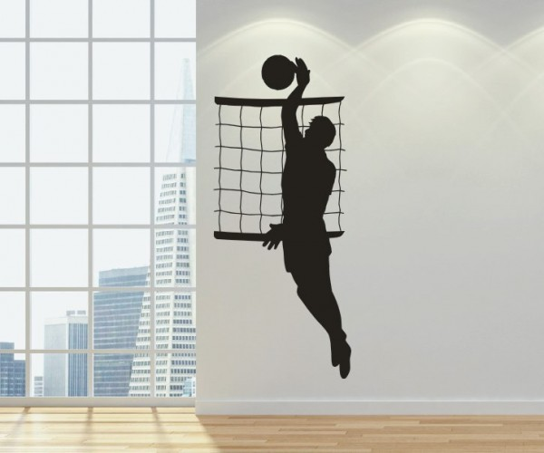 Wandtattoo - Volleyball - Silhouette / Schattenmotiv   3