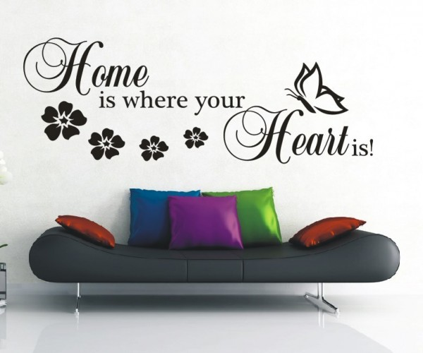 Wandtattoo - Home is where your Heart is!   6