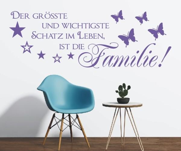Wandtattoo - Der größte und wichtigste Schatz im Leben, ist die Familie! - Variante 4