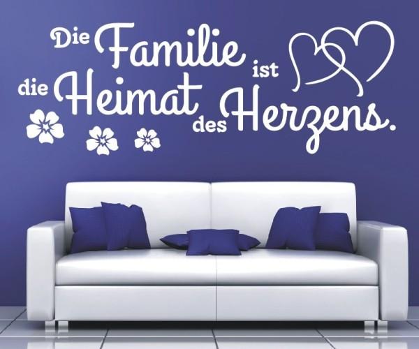 Wandtattoo - Die Familie ist die Heimat des Herzens.   13