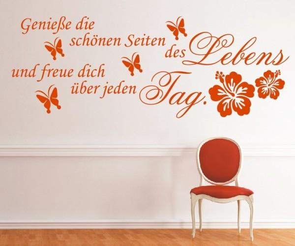 Wandtattoo - Genieße die schönen Seiten des Lebens und freue dich über jeden Tag. | 1