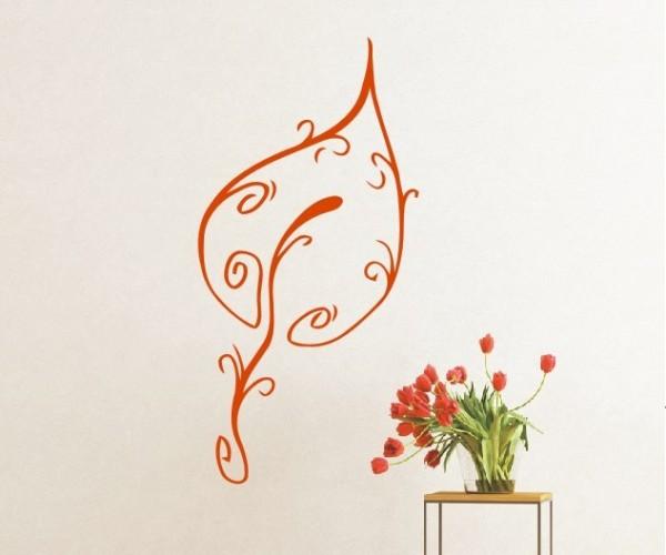 Wandtattoo - Blumenmotiv / Blumenranke | 130