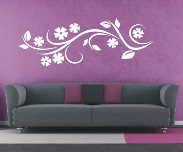 Wandtattoo - Blumenmotiv / Blumenranke - Variante 176