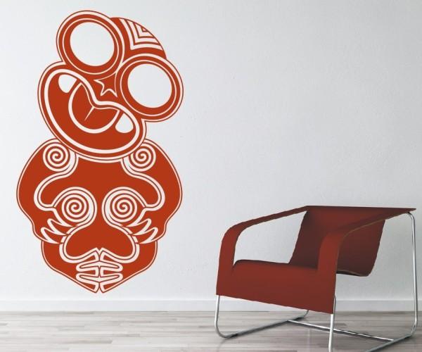Wandtattoo - Maori - Maskenmotiv - Variante 9
