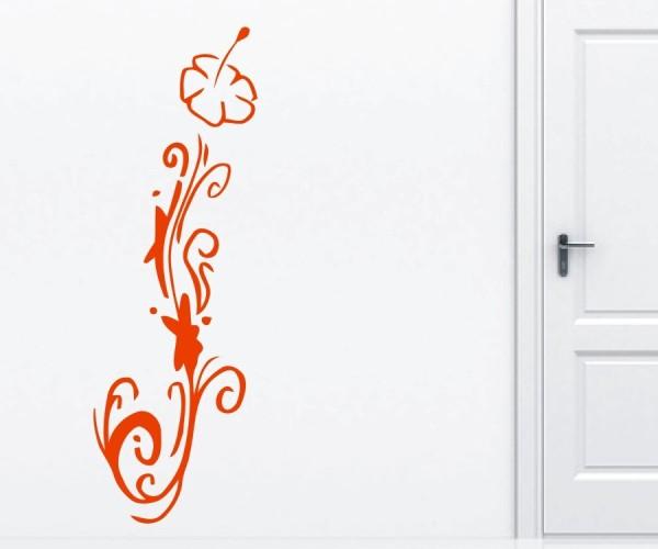 Wandtattoo - Blumenmotiv / Blumenranke | 252