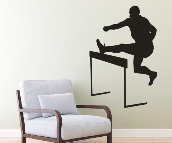 Wandtattoo - Leichtathletik - Silhouette / Schattenmotiv - Variante 6