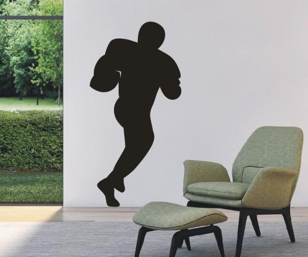 Wandtattoo - Football - Silhouette / Schattenmotiv - Variante 4