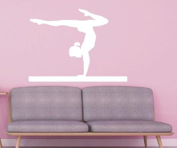 Wandtattoo - Turnen & Gymnastik - Silhouette / Schattenmotiv - Variante 3