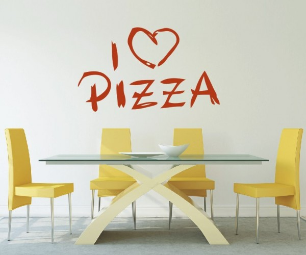Wandtattoo - Küche - Pizza Küche Esszimmer Coffeshop Wandbild Wanddeko Bild