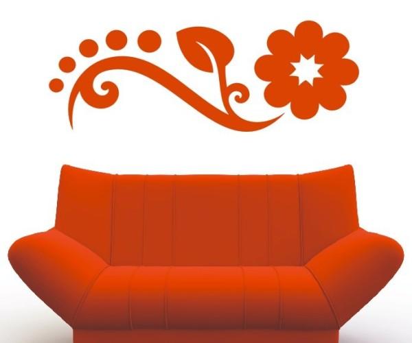 Wandtattoo - Blumenmotiv / Blumenranke   162
