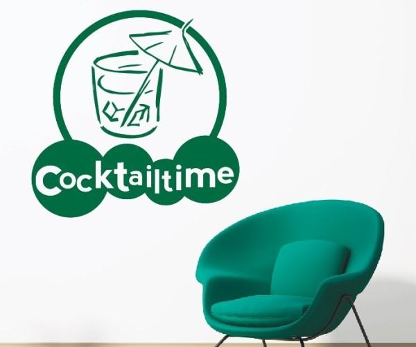 Wandtattoo - Küchen Wandtattoo - Cocktail Bar Kneipe Alkohol Tresen Wandbild Wanddeko-3