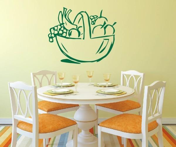 Wandtattoo - Küche - Obst Gemüse Küche Esszimmer Coffeshop Wandbild Wanddeko