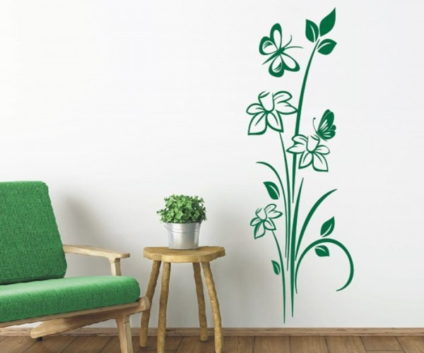 Wandtattoo - Blumenmotiv / Blumenranke   242