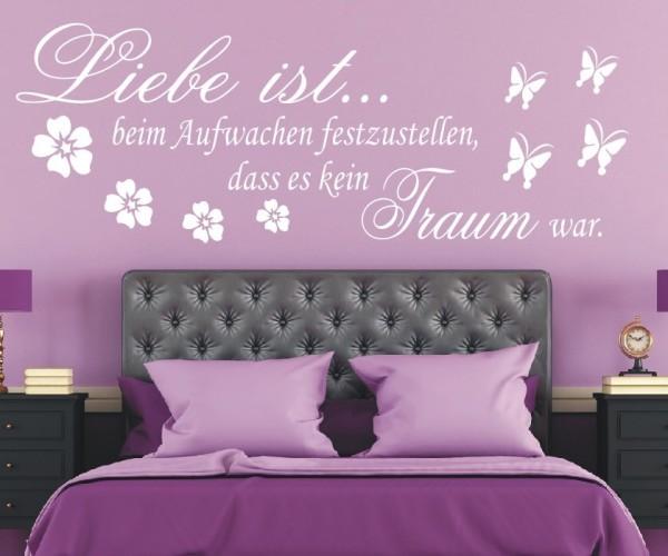 Wandtattoo - Liebe ist... beim Aufwachen festzustellen, dass es kein Traum war. | 1