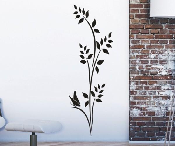 Wandtattoo - Blumenmotiv / Blumenranke - Variante 234