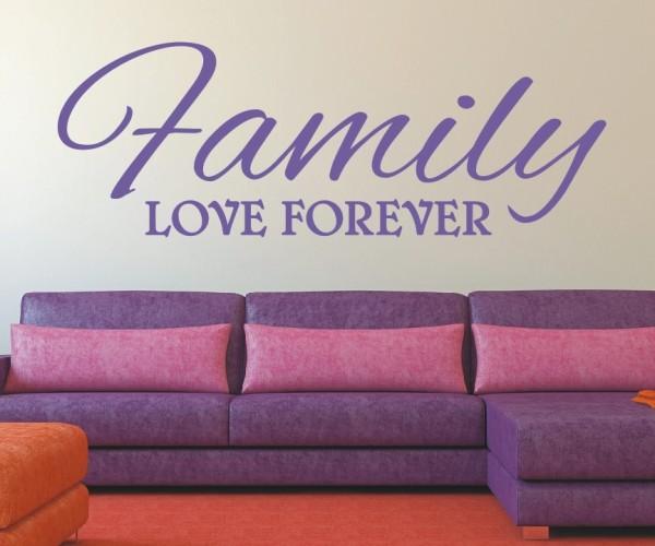Wandtattoo - Family love forever | 3