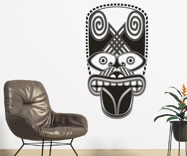 Wandtattoo - Maori - Maskenmotiv   20