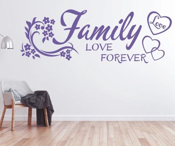 Wandtattoo - Family love forever | 9