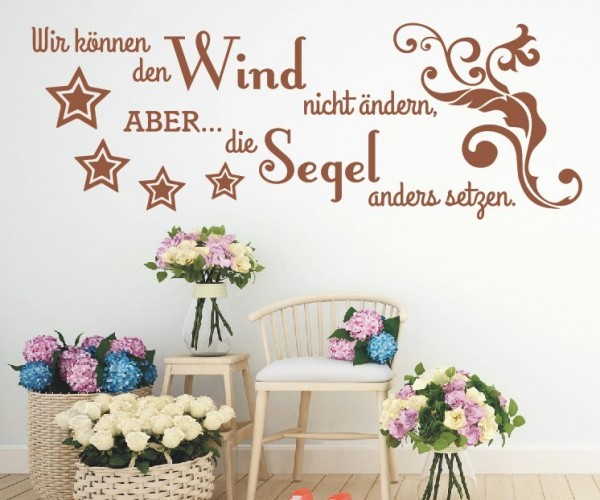Wandtattoo - Wir können den Wind nicht ändern, ABER... die Segel anders setzen. - Variante 4