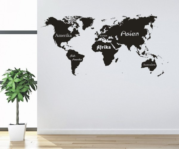 Wandtattoo - Weltkarte | 2