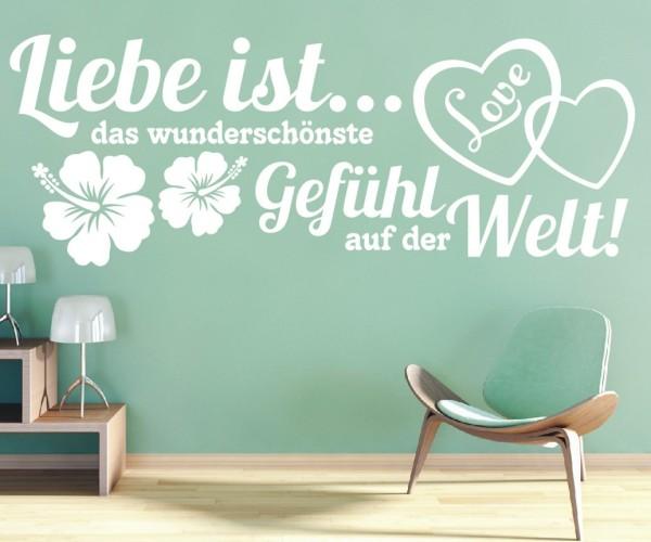 Wandtattoo - Liebe ist... das wunderschönste Gefühl auf der Welt! - Variante 2