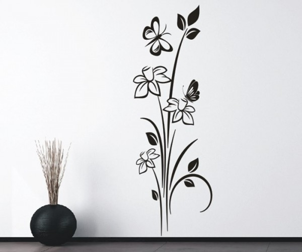 Wandtattoo - Blumenmotiv / Blumenranke - Variante 245