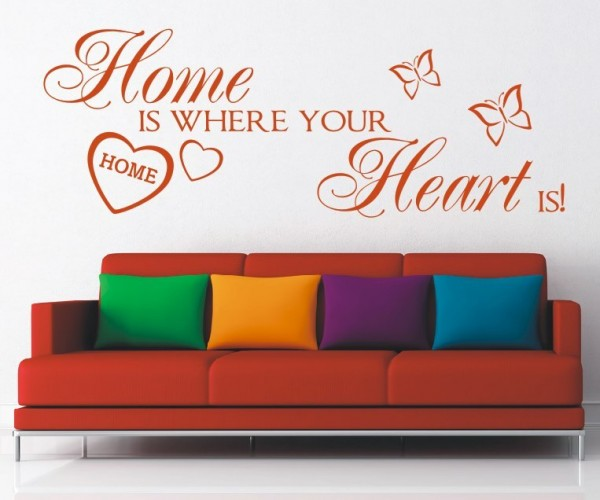 Wandtattoo - Home is where your Heart is! - Variante 3