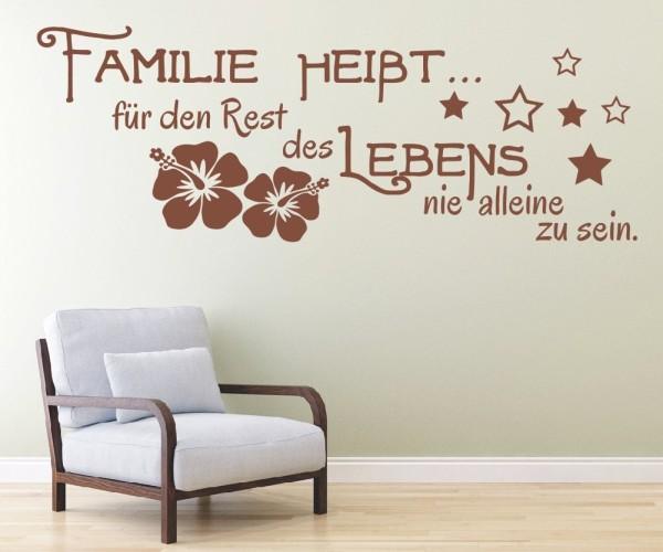 Wandtattoo - Familie heißt... für den Rest des Lebens nie alleine zu sein. - Variante 5
