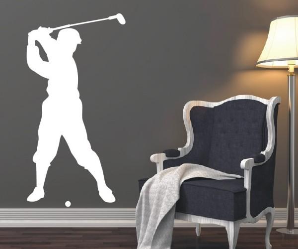 Wandtattoo - Golf - Silhouette / Schattenmotiv - Variante 1