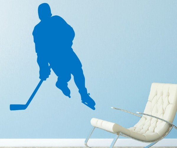 Wandtattoo - Eishockey - Silhouette / Schattenmotiv - Variante 2