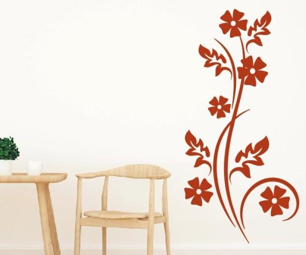 Wandtattoo - Blumenmotiv / Blumenranke | 118