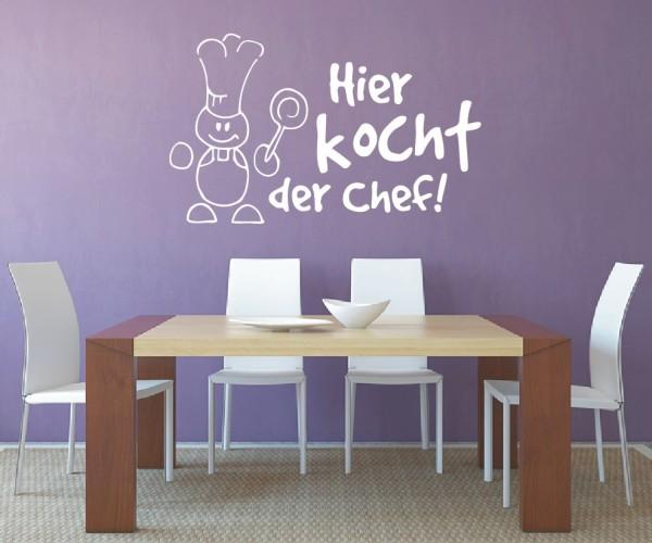 Wandtattoo - Küche - Koch kochen Küche Esszimmer Kochlöffel Wandbild Wanddeko