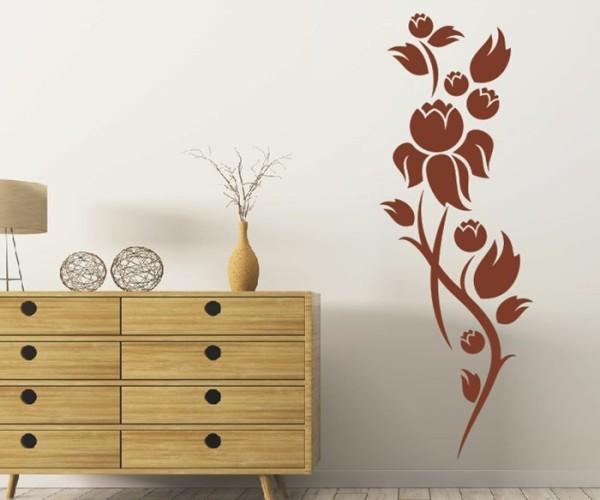 Wandtattoo - Blumenmotiv / Blumenranke - Variante 213