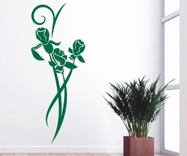 Wandtattoo - Blumenmotiv / Blumenranke   168