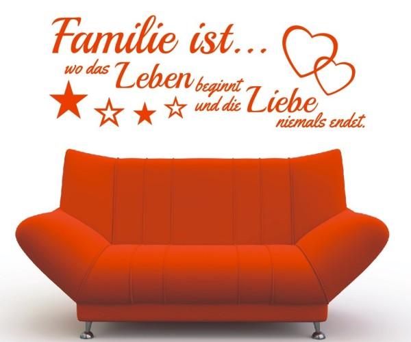 Wandtattoo - Familie ist... wo das Leben beginnt und die Liebe niemals endet. | 10