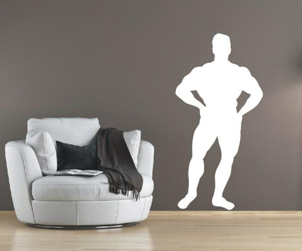 Wandtattoo - Bodybuilding / Kraftsport - Silhouette / Schattenmotiv - Variante 2