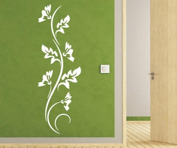 Wandtattoo - Blumenmotiv / Blumenranke - Variante 225