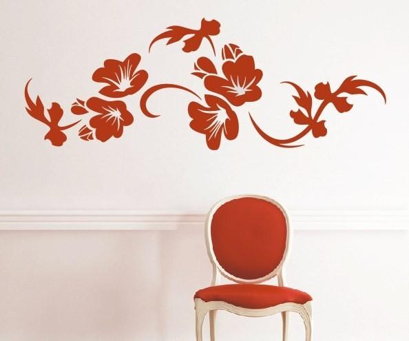 Wandtattoo - Blumenmotiv / Blumenranke   165