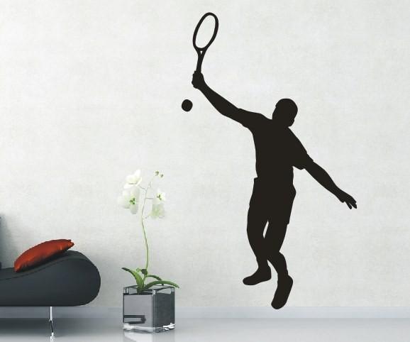 Wandtattoo - Tennis - Silhouette / Schattenmotiv   3