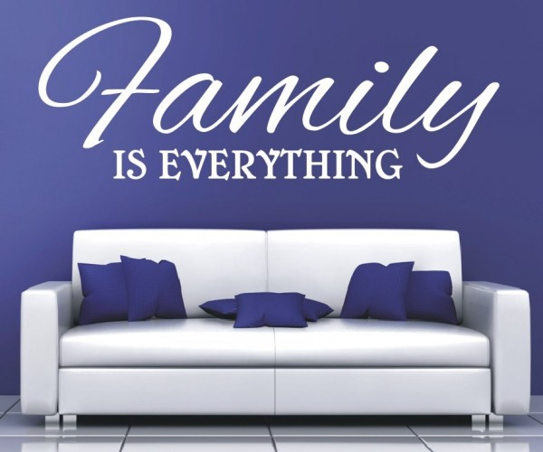 Wandtattoo - Family is everything - Variante 3